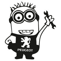 Chinese  Minion Worker Peugeot Car Sticker Decal Vinyl Funny JDM Dope Bumper manufacturers