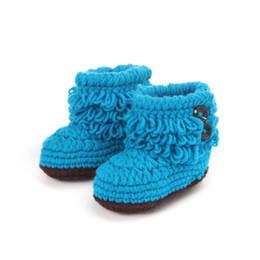 China Baby Girls shoes Woolen flower infants Crochet Handmade Knit High-top Tall Boots Hand-woven bottom toddler Shoes 10*5.5cm cheap summer tall boots suppliers