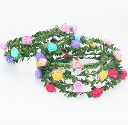 hippie hair bands NZ - 2018 Flower Crown Headband Boho Hippie Festival Floral Head Wreath Halo Floral Bridesmaid wreath Hair Bands Accessories