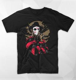 $enCountryForm.capitalKeyWord NZ - Cotton T Shirt Printed T Shirt Crew Neck Short-Sleeve Compression Jason Mask Elm Street T Shirts For Men