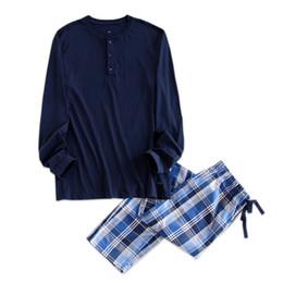 32c7d0fc64 Night suits pajama online shopping - Simple Pyjamas Men Cotton Autumn  Pajama Set Men Top trousers