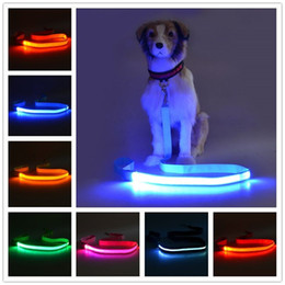 $enCountryForm.capitalKeyWord Australia - B01 Pet dog LED leahses leads pet traction rope Pull strap for dogs cats 120cm length battery and USB Rechargeable