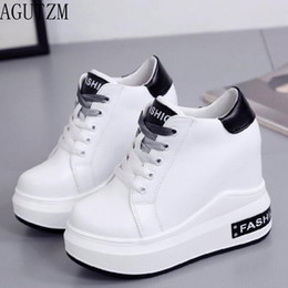 aa000153a9091 wholesale 2018 Spring Autumn new fashion Korean solid round head flat  high-top women s shoes thick-soled lace-up casual shoes V697