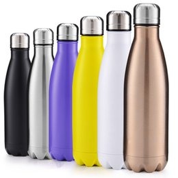 double wall stainless water bottles UK - 11 Colors Cola Shaped water bottle Vacuum Insulated Travel Water Bottle Double Walled Stainless Steel coke shape Outdoor Water Bottle