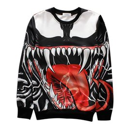cool sweatshirt jackets Canada - Hoodie 3d Hoodie Sweatshirts Men Women Jackets Long Sleeved Poison Pullover Super Cool Tracksuits Streetwear Out Coat New Arrive Hoodies