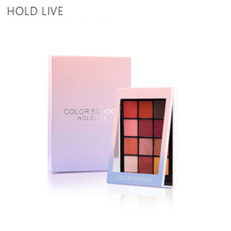 living shadow Australia - Hold Live 12Color Shimmer Shining Eyeshadow Palette Makeup Set Radiant Creamy Eye Shadow Powder Natural Nude Warm Tone Brighten