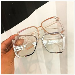 a44f763bfae 2018 Oversize Sunglasses With Plain Lens Fashion Round Sun Glass for women  men Luxury Decoration Eyeglass Chic Stylish Eyewear Vintage Glass