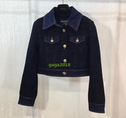 7da900338 Diseño de lujo de gama alta mujeres niñas de manga larga Viscosa Denim  Tweed bombardero chaqueta canal blusa superior borlas bombardero ropa de  abrigo nuevo ...