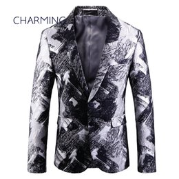 $enCountryForm.capitalKeyWord UK - Jacket suit for man, luxury jacquard printed fabric, gentleman suit jacket, for singer performance, fashion party ball wedding suit
