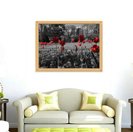 $enCountryForm.capitalKeyWord UK - 5D DIY red rose garden diamond painting painted cross embroidery diamond home living room corridor decoration