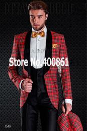 $enCountryForm.capitalKeyWord UK - New Design Flower square lattice Shawl Lapel Wedding Men Suits Groom Tuxedos Men Party Groomsmen Suits (Jacket+Pants+Tie+Vest) NO:126