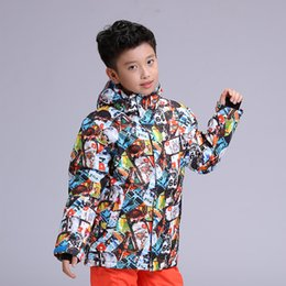 L Jackets NZ - New GSOU SNOW Children's Ski Suit Outdoor Winter Windproof Waterproof Warmth Breathable Ski Jacket For Boy Size XS-L