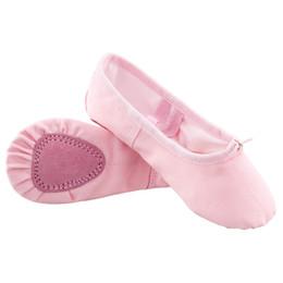 694f2fc46a Crianças crianças meninos lona algodão sapatos de balé meninas adulto macio  único ballet flat chinelos
