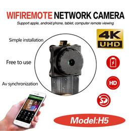 Vente en gros 4K Ultra-HD WIFI Mini module caméra IP sans fil P2P Module bricolage sténopé Bouton de la caméra Mini DV DVR Accueil Surveillance Surveillance CCTV Caméscope