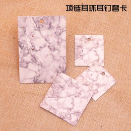 Wholesale DIY handmade jewelry earring necklace packing card cute stud drop earring display card per simple marble line tags