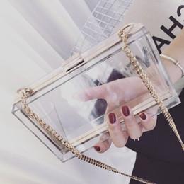 $enCountryForm.capitalKeyWord Canada - Classic Acrylic Women Clutch Shoulder Messenger Chain Evening Bag Ladies Small Square Package Clear Plastic Handbags Bags