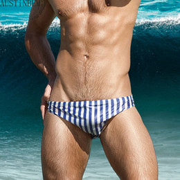 Fresh swimwear online shopping - Colorful Fresh Triangular Swim Trunks Swimwear Men Sexy Stripe Men S Swimsuit Sunga Masculina Beach Short Board Brief