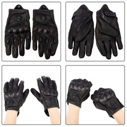 Gloves motorcycle motorbike online shopping - 1 Pair Motorbike Cycling Gloves Protective Gears Leather Motorcycle Gloves Winter Man Female Gloves black