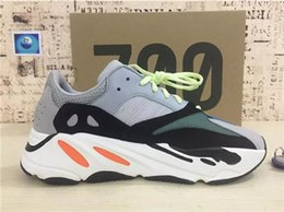 Christmas Gift Shoes Australia - 2018 High Quality Wave Runner 700 Real Womens Mens Running Shoes Designer By Kanye West Season 700s Sneakers size 36-46 Christmas gift