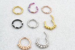 septum piercings Australia - LOT100pcs Nose clicker Septum Nose Hoop Ring Lip Ear Mulit Use Ring Diath Cartilage Helix Piercing body piercing jewelry 16G