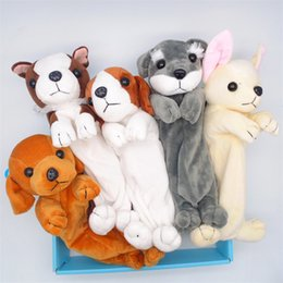 New arrival kids school bags online shopping - Kawaii Stuffed Dog Plush Pencil Bag Cute Design Pen Case Kids Students School Supplies Cute Doll Toys New Arrival sl Z
