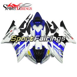 $enCountryForm.capitalKeyWord UK - Blue White Complete Motorcycles Fairings For Yamaha YZF600 R6 YZF-R6 2008 - 2016 09 12 13 14 15 Injection ABS Plastic Motorcycle Body Kits