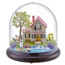 China Cute Room DIY Doll House With Furniture Miniature 3D Wooden House Handmade Toys Gifts For Kids Spring Flowers B021 #E supplier kids spring toy suppliers