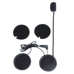 Helmets speakers online shopping - 1 Motorcycle Helmet Speakers Headset with Soft Corded Microphone for Motorcycle Bluetooth