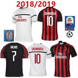 Thai quality 18 19 AC Milan Home red black soccer jersey 2018 2019  CALHANOGLU ANDRE SILVA BACCA KAKA SUSO BONUCCI away football shirts bcc47a112