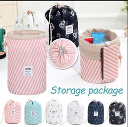 Storage Bags Portable Clothes Socks Shoes Underwear Storage Bag Cotton And Linen Cactus Decor Tote Drawstring Bag Travel Makeup Organizers