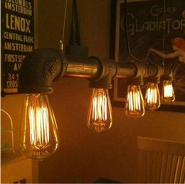 $enCountryForm.capitalKeyWord Australia - Vintage Pendant Lights Metal Iron Water Pipe Lamp Steampunk Lamps E27 Bulbs Pendant Lamp Warehouse Bar Lighting Counter Lamps