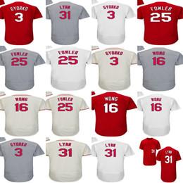 2bd86a1fe 2017 Red White Cream St. Louis Kolten Wong 25 Dexter Fowler 31 Lance Lynn  Jedd Gyorko Mens Girls Boys Cool Flex Baseball Jerseys