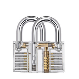 Lock pick Locksmith online shopping - High Quality Transparent Lock Pick Set Combination Acrylic Practice Locks With Big Hang Home Gun Locksmith Tools h jj