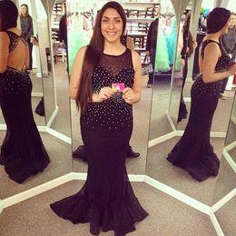 Discount Sequin Black Designer Evening Gown Sequin Black Designer