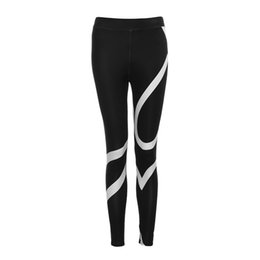 Yoga Pants Sales UK - Hot Sale Yoga Pants Women Polyester Elastic Waist Ankle-Length Pants Splice Yoga Skinny Workout Gym Leggings Fitness