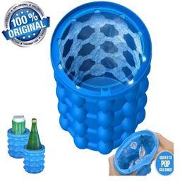 1c48d719c22b8 1 PCS Größere Größe Silikon-Eiswürfel-Hersteller Genie Drinking Halter  Revolutionäre platzsparende Eiswürfelbereiter Ice Genie Silikon Eimer