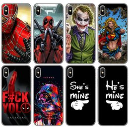 Super heroeS iphone caSe online shopping - For Galaxy Note9 Marvel Avengers Thin Case Iron Man Painted Soft TPU Super Hero Captain Protector for iPhone X Samsung Note8 S9 S8plus