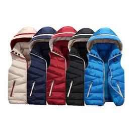 Kids Jackets S Letter UK - AD Brand Vest Men New Stylish Autumn Winter Warm Sleeveless Jacket Army Waistcoat Men s Vest Fashion Casual Coats Mens Windproof Kids C