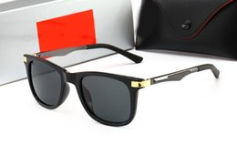 MagnesiuM glasses online shopping - High quality new glass men s sunglasses Men s trend aluminum magnesium spring small temples sunglasses Fashion color mirror