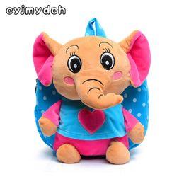 elephants baby 2019 - Lovely Cartoon Elephant Plush Backpacks Toys Hobbies School Bag Soft Dolls Stuffed Plush Children Backpacks Kids Baby Ba