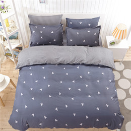 Discount western bedding sets - Western Simple Style Bedding Set Luxury Stripe Geometric Pattern King Bed Linen Comfortable Soft Beddings Queen Size Bed
