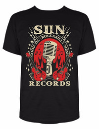 Music Man T Shirt Canada - Men Fashion Tops Casual Sun Records Electric Mic Music T-Shirt For Men Tshirt High Quality Casual Printing Tee