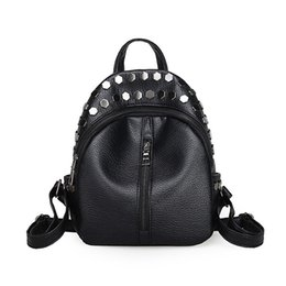 $enCountryForm.capitalKeyWord Canada - 2018 Mini Pack Korean version schoolbag wash skin Pu new stitching double backpack rivet cross lady little backpack