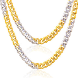 1e95ecc9327cc6 2018 Fashion Men Women 18k gold plated Necklace 4mm 24inch Exquisite  Sideways Chain Party Gifts double color snake chain Accessories N003