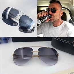 5fd8565fd1 Top luxury K gold men eyewear car brand Maybach designer glasses Pilot  titanium -frameless top quantity outdoor uv400 sunglasses