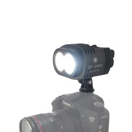 $enCountryForm.capitalKeyWord NZ - 20W 2000LM Camera Camcorder Cree Studio LED Video Light Bi-Color & Dimmable Lamp +Battery+Charger for DSLR