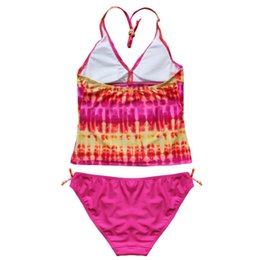 Swimwear Swimwear For Girls Kid Kids Toddler Baby Girls Ruffled Dot Cross Back Bikini Beach Separate Swimsuit Bathing Swimwear D300221