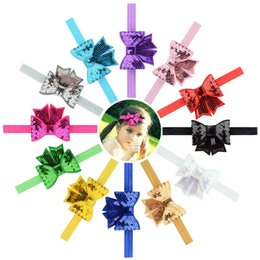 $enCountryForm.capitalKeyWord UK - 12pcs Solid Mini Embroideried Sequin Bows Headband Elastic Hair Bands Tie For kids Girls Hair Accessories HD782