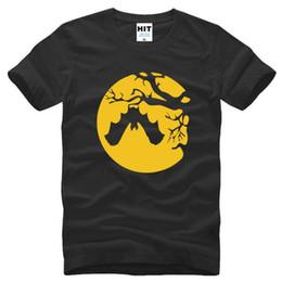 5d8b1f6ba021 Discount bat man t shirt - Goth Bat on Tree HALLOWEEN Printed T Shirt Men  Summer
