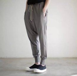 Wholesale RO RICK OWENS drkshdw Summer New Collection Fashion Pants Elastic Waist Grey Black Loose Pants